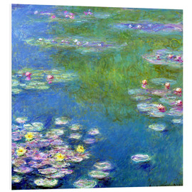 Foam board print  Nymphéas - Claude Monet
