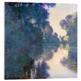 Acrylic print  Morning on the Seine - Claude Monet