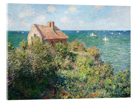 Acrylic print  Fisherman's Cottage on the Cliffs at Varengeville - Claude Monet