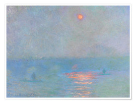 Premium poster  Waterloo Bridge - Claude Monet