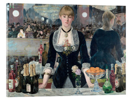Acrylic print  Bar at the Folies-Bergere - Edouard Manet