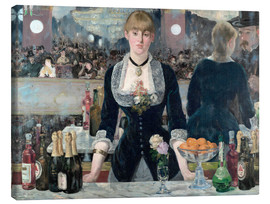 Canvas print  Bar at the Folies-Bergere - Edouard Manet