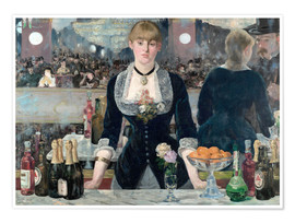 Premium poster  Bar at the Folies-Bergere - Edouard Manet