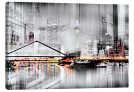 Canvas print  Düsseldorf skyline, Germany - Städtecollagen