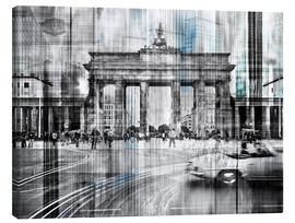 Canvas print  Berlin Cityscape Brandenburger Tor - Städtecollagen