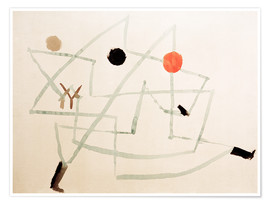 Premium poster  Bewitched and in a hurry - Paul Klee