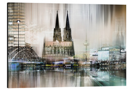 Aluminium print  Abstract skyline in Cologne, Germany - Städtecollagen