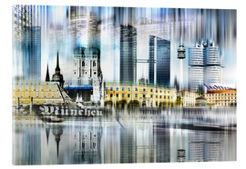 Acrylic print  Munich Germany - Städtecollagen