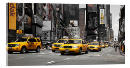Acrylic print  New York City -Yellow Cabs - Hannes Cmarits