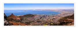 Premium poster  Cape Town panoramic view - HADYPHOTO