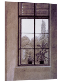 Foam board print  Window w.view o.park - Caspar David Friedrich