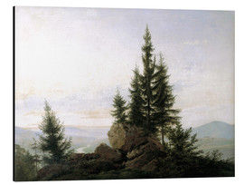 Aluminium print  View into the Elbe valley - Caspar David Friedrich