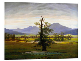 Acrylic print  The lonesome tree - Caspar David Friedrich