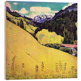 Wood print  View of the Blüemlisalp - Ferdinand Hodler