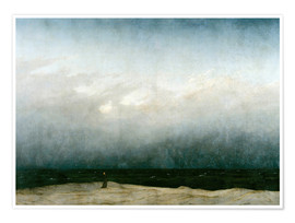 Premium poster  Monk by the Sea - Caspar David Friedrich
