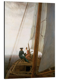 Aluminium print  On the Sailing ship - Caspar David Friedrich