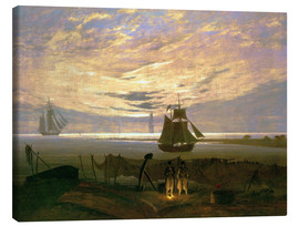 Canvas print  Evening at the Baltic Sea - Caspar David Friedrich