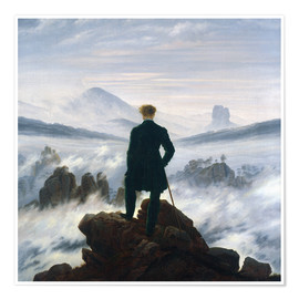 Premium poster  The Wanderer Above the Sea of Fog - Caspar David Friedrich