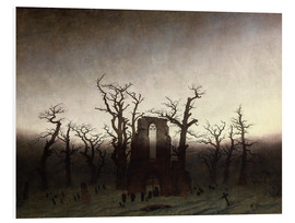 Foam board print  The Abbey in the Oakwood - Caspar David Friedrich
