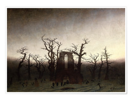 Premium poster  The Abbey in the Oakwood - Caspar David Friedrich