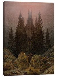 Canvas print  Crucifix in Forest - Caspar David Friedrich