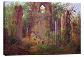 Canvas print  Abbey ruin Eldena - Caspar David Friedrich
