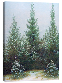 Canvas print  Fir Trees in Snow - Caspar David Friedrich