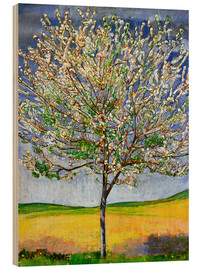 Wood print  Blossoming cherry tree - Ferdinand Hodler