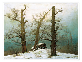 Premium poster  Megalithic grave in the snow - Caspar David Friedrich