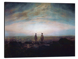 Aluminium print  Two men at the sea - Caspar David Friedrich