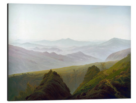 Aluminium print  Morning in the Mountains - Caspar David Friedrich