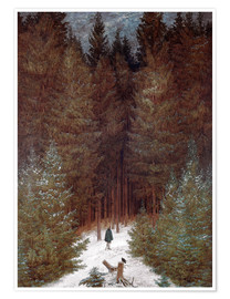 Premium poster  Chasseur in the woods - Caspar David Friedrich