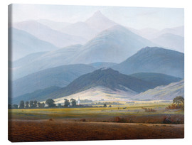 Canvas print  Giant Mountain Landscape - Caspar David Friedrich