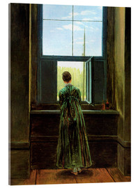Acrylic print  Woman at the window - Caspar David Friedrich