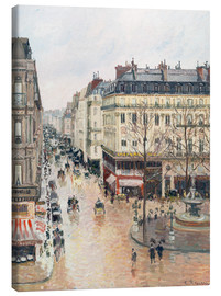Canvas print  The Rue Saint-Honoré in the Afternoon - Camille Pissarro