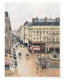 Premium poster  The Rue Saint-Honoré in the Afternoon - Camille Pissarro