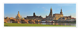 Premium poster Dresden Canaletto view