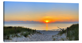 Canvas print  Sunset Panoramic at the beach - FineArt Panorama