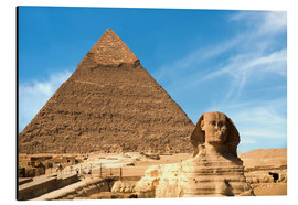 Aluminium print  Sphinx in front of the Great Pyramid - Miva Stock