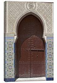 Canvas print  Wooden door in decorated archway - Nico Tondini