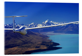 Acrylic print  Glider over a lake - David Wall