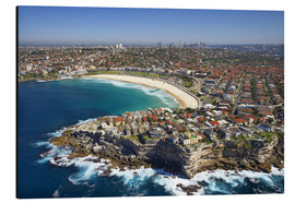 Aluminium print  Aerial view of Bondi Beach - David Wall