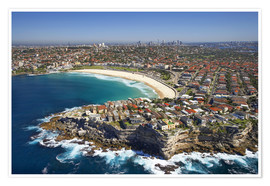 Premium poster  Aerial view of Bondi Beach - David Wall