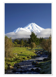 Premium poster  Nature at Mount Taranaki - David Wall