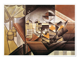 Premium poster  Composition with clock - Juan Gris