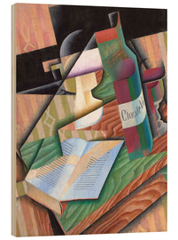 Wood print  The book - Juan Gris