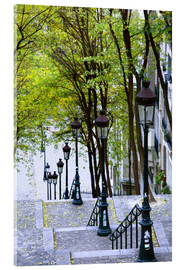Acrylic print  Stairs to the Place du Sacré-Coeur - Walter Bibikow