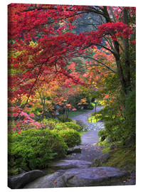 Canvas print  Path in a Japanese garden - Janell Davidson