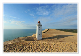Premium poster  Lighthouse Rubjerg Knude in Denmark - HADYPHOTO