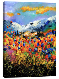 Canvas print  Field with wildflowers - Pol Ledent